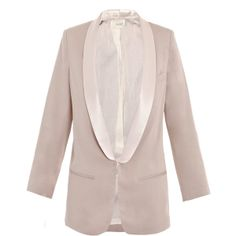 FORTE FORTE Satin tuxedo jacket found on Polyvore | #WinterSummer #CoolWinter #style #dramatic #classic