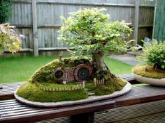 Miniature Hobbit House DIY http://www.bonsaiempire.com/blog/bag-end <- Instructions here Perfect home for the Wee ones , just dont forget about second breakfast, they get cranky otherwise.   Please be active on our page and stay connected √ Like √ Comment √ Share √ Thank you! Confessions of Crafty Witches Remember to visit my page daily to see all our postings, Recipes & Contests