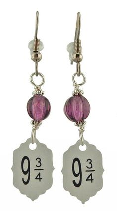 Unique Creations — Harry Potter Inspired 9 3/4 Earrings