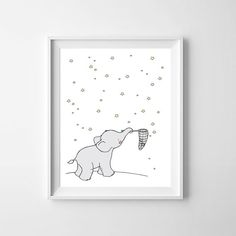 Elephant Printable Nursery ArtElephant Nursery by GABBIKprint