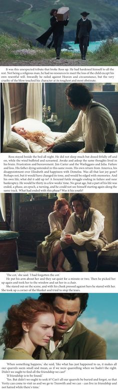 The TV series accompanied by excerpts from the novelization, Poldark. s1e8 http://chrisnarouz.tumblr.com/