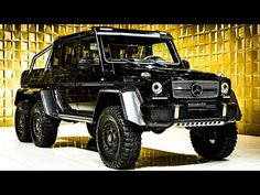 Mercedes-Benz G 63 AMG 6x6 (color: Obsidian Black Metallic) [Walkaround] | 4k Video - YouTube Mercedes Benz G63, G 63 Amg, Roof Extension, Xenon Headlights, Double B, Steyr, Thermal Insulation, Audi Cars, Luxury Suv
