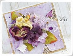 Mishmash Card Tutorial by Lady E with Petaloo Flowers