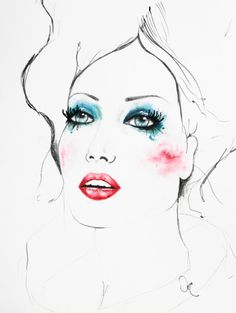Original watercolor fashion illustration  A4  91 por VictoriAtelier, $95.00