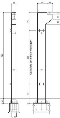 Figura 1 Características principais do pilar pré-moldado.