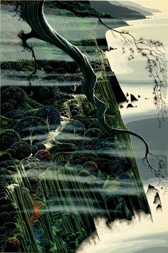 'From Out of the Sea' Eyvind Earle serigraph