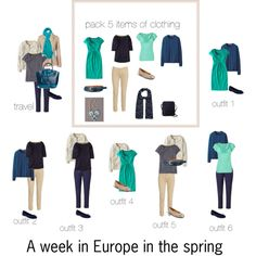 A week in Europe in the spring by lillyicity on Polyvore featuring Uniqlo, Boden, L.K.Bennett, Vero Moda, Rabens Saloner, Joules, Gabor, Old Navy, ASOS and O.S.P Osprey