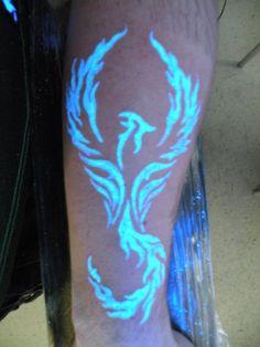 UV Pheonix by Sean of Captain Jacks Tattoo's