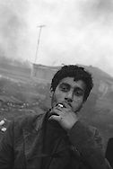 Valentin Dobre, a Romanian employed to work in the metal working business by a Kalderash Roma family of SIntesti camp, near Bucharest.