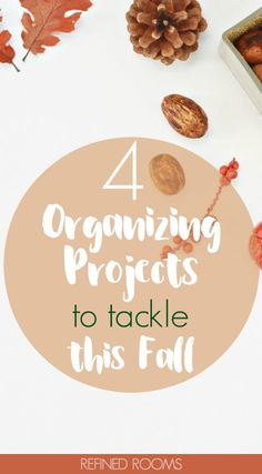 Feeling the urge to get organized this fall? Check out these 4 fall organizing projects to FINALLY conquer this year! Small Bathroom Organization, College Organization, Home Organization Hacks, Paper Organization, Declutter Home, Organizing Your Home, Organizing Tips, Decluttering, Fall Cleaning Checklist
