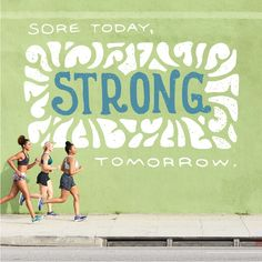 Keep this positivity in mind when everything hurts in the morning. You'll thank yourself tomorrow. Brooks Running | Runspiration Getting Out, Fitness Inspiration, It Hurts, Mindfulness, Strong, Positivity, Running, Workout, Racing