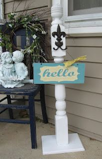 Dippity Dot: Wood sign and wreath stand with hand painted sign