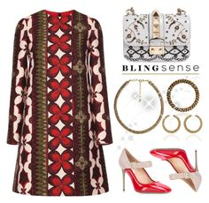 Blingsense by faten-m-h on Polyvore featuring polyvore mode style Valentino fashion clothing jewelry blingsense