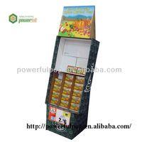 retail pop up cardboard tea bag display stand