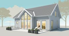Villa Marieholm – Vackert långsträckt U-format Tiny House Cabin, My House, Small Country Homes, Sweden House, Hamptons House, House Elevation, Interior Garden, Village Houses, House Extensions