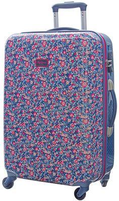Maleta mediana Edna Print de Pepe Jeans London es dura de cuatro ruedas con un diseño muy juvenil y primaveral, es la maleta perfecta para ti o para regalar