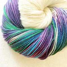 Sparkly Dazzler yarns with just a splash of colour