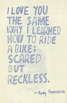 ☺ SEVEN THINGS bike2 - i'm not normally very mushy and gushy, but isn't this just so sweet?