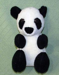"""Vintage YOSKI PET Musical Teddy Bear PANDA Rock A Bye Baby Plush Stuffed 12"""" Toy #YoskiPet"""