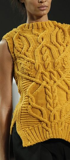 Derek Lam corded wool cable knit sweater