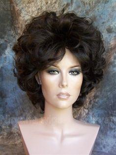 Fae Wig. In the style of Marilyn Monroe. Dark Brown