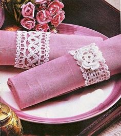 beautiful crochet napkin rings..