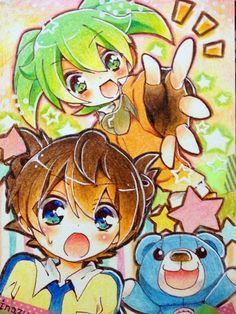 Fei Rune y Arion Inazuma Eleven Go Chrono Stone