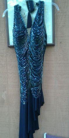 1920's Art Deco Great Gatsby Fringe bugle bead Sexy Flapper Dress 1of a kind sma #Handmade #AsymmetricalHem #Cocktail