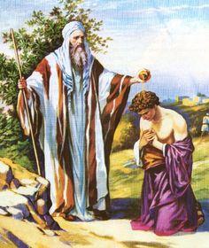 Antiguo Testamento, Éxodo cap. 40 vers. 9. Y tomarás el aceite de la unción y ungirás el tabernáculo, y todo lo que está en él; y lo santificarás con todos sus utensilios, y será santo.