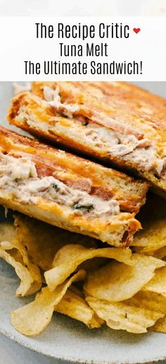 Tuna Melt is the ultimate sandwich with a flavorful tuna fish mixture, slices of cheddar cheese, freshly sliced tomatoes all melted together in a skillet on a thick, crispy golden bread. This sandwich will literally melt in your mouth! Tuna Sandwich Recipes, Tuna Melt Sandwich, Tuna Melts, Tuna Recipes, Seafood Recipes, Cooking Recipes, Chicken Recipes, Queso Cheddar, Cheddar Cheese