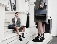Mikko Puttonen - Orphan Bird Coat, Givenchy Bag, Acne Studios Trousers, Balenciaga Shoes - Pastels