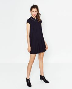 Image 1 of JACQUARD POLKA DOT DRESS from Zara