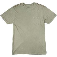 RVCA PTC 2 Pigment Slim T-Shirt ($29) ❤ liked on Polyvore featuring men's fashion, men's clothing, men's shirts, men's t-shirts, mens slim fit t shirts, mens red shirt, rvca mens shirts, mens short sleeve shirts and mens slim fit short sleeve shirts