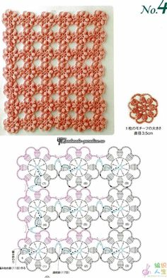 Безотрывное вязание крючком. Японский журнал со схемами