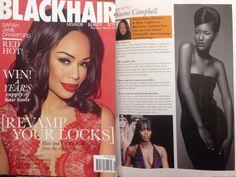 Black Hair Magazine UK editorial model Astrid Caballero feb/mar 2014