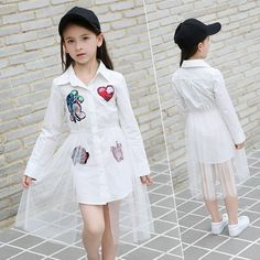 2017 Autumn Girls Dress Shinning Sequins Applique Teens Clothes Lace Children Clothing for Kids 11 12 13 14 Years old Dresses Kids Girl, Kids Outfits Girls, Cute Girl Outfits, Girls Party Dress, Girls Fashion Clothes, Cute Outfits For Kids, Little Girl Fashion, Kids Fashion, Fashion Outfits