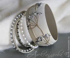 Чудесные цветочные браслеты из полимерной глины Евгении Александровой