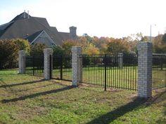 brick / aluminum fence