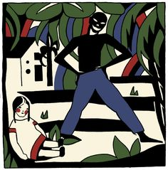 Ilustration from portuguese painter Sarah Afonso for the book Mariazinha em África. Spanish Art, Modern Times, Portuguese, Joker, Africa, Picasso, My Style, Books, Portugal