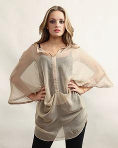 1627739e59b696 Miwa Centre Draped Dress Beige - £65.00 : Yuki Tokyo, Online Fashion Store