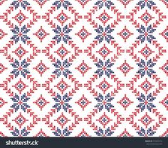 The Embroidered Pattern Stock Vector Illustratie 310455716 : Shutterstock