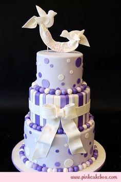 Baptism Cakes - no birds though