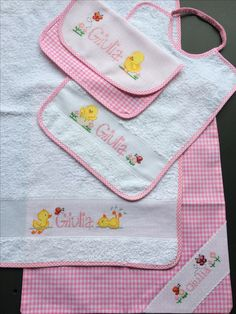 Scuola Infanzia set2016 Busy Book, Cross Stitch, Babies, Embroidery, Dresses For Babies, Manualidades, Dots, Needlepoint, Dressmaking