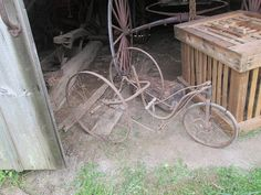 Old tricycle in Kromer Barn at Lyme Village