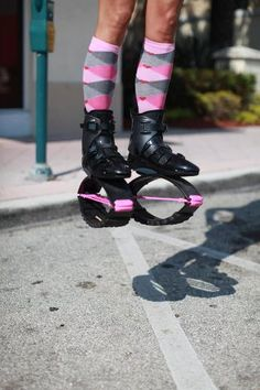 Kangoo Jumps and matching kangoo boots to your socks = priceless