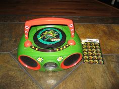 Teenage Mutant Ninja Turtle  Portable Boom Box CD Player & Radio -CD221NT Workin #TeenageMutantNinjaTurtle