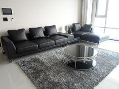 Max2917 - L-Shape Leather Sofa