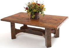 Barnwood Dining Table Timber Frame Design #8 - Item #DT00431 - Can Be Expandable - 17 Standard & 1000 Custom Color Options - Custom Sizes Available - Made From Salvaged Barnwood
