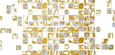 Gold Mosaic wallpaper from Signature Collection by Patternation. www.patternation.co.uk