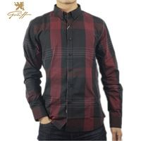 Uk.Greiff.Top brand shirt.VFan Flannel Men Plaid Shirts New Luxury Slim Long Sleeve Brand Formal Business Fashion Dress Shirts